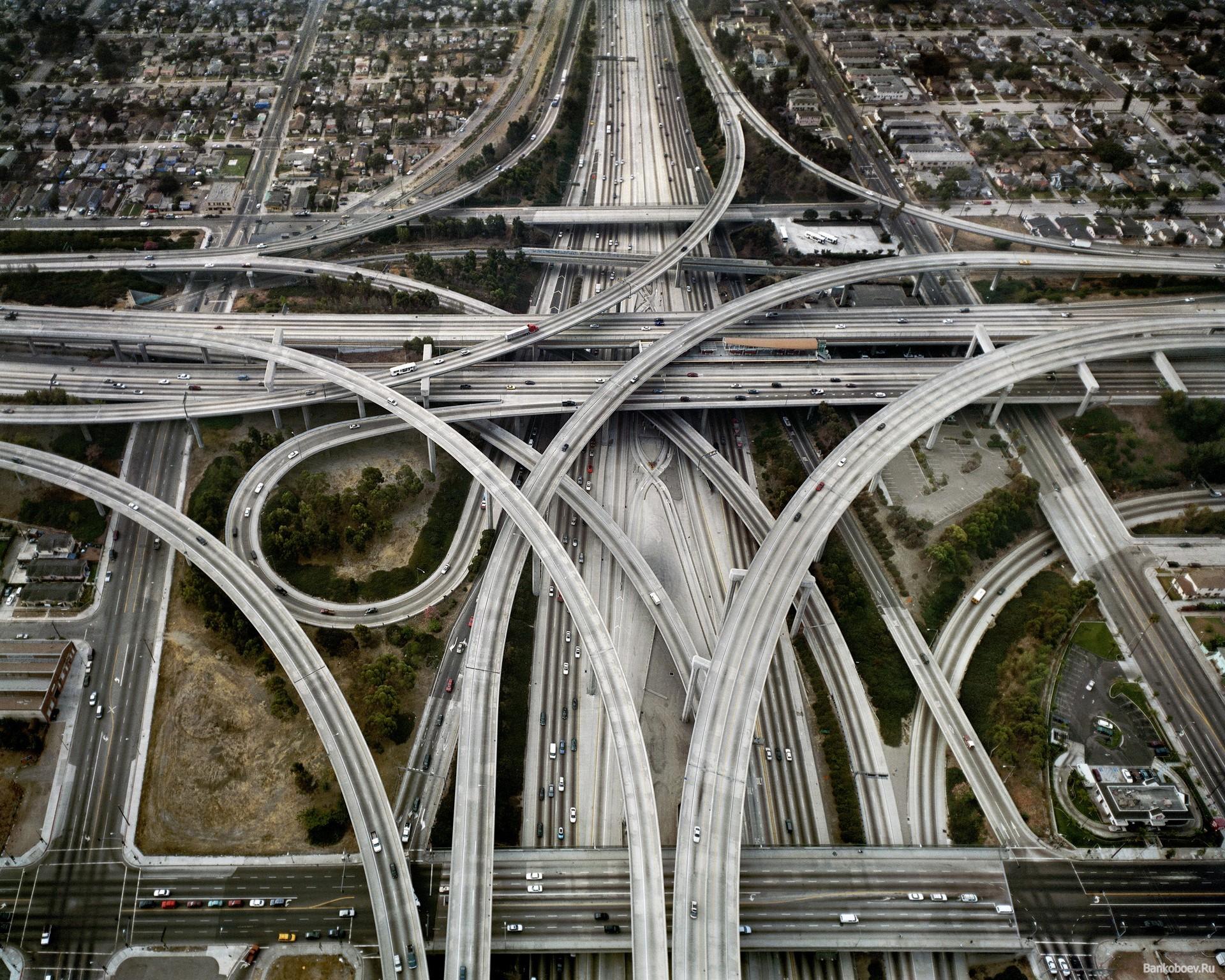 Дорожная развязка в Лос-Анджелесе