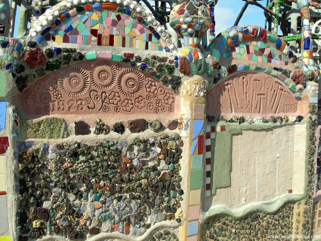 Watts Tower Recycled Materials In Construction Los