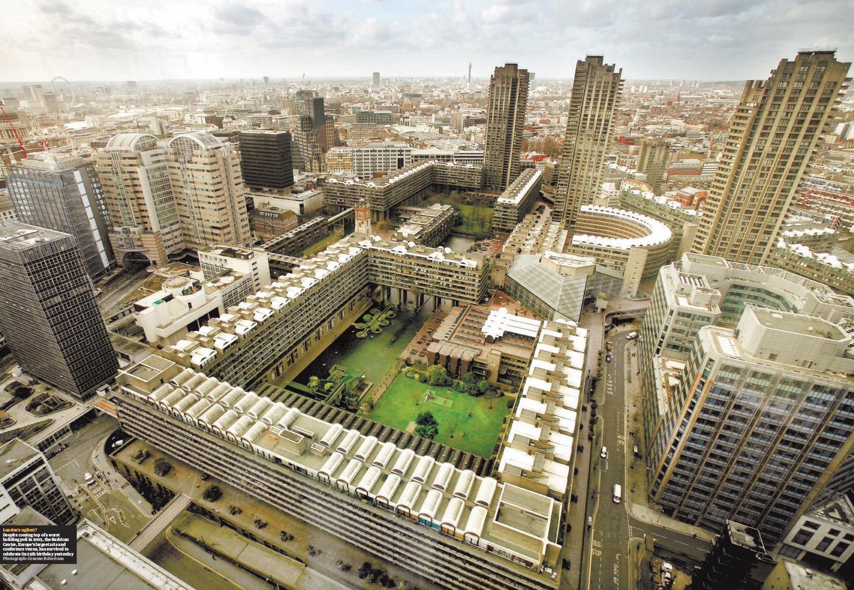 Split Floor Plan The Three Towers Of The Barbican Center London